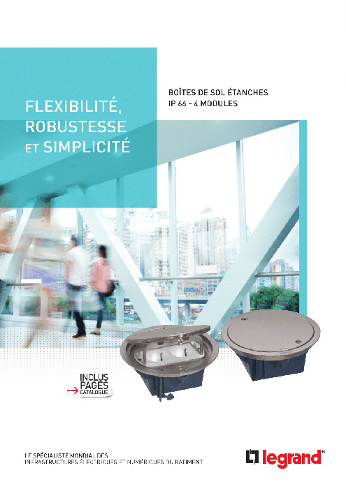 Brochure boîtes de sol étanches IP 66 - 4 modules