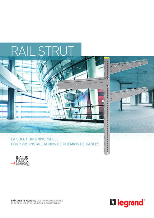 Brochure rail strut