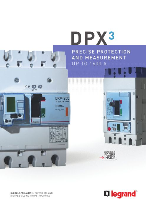 DPX³ MCCBs brochure: reliable protection and accurate measurement up to 1600 A