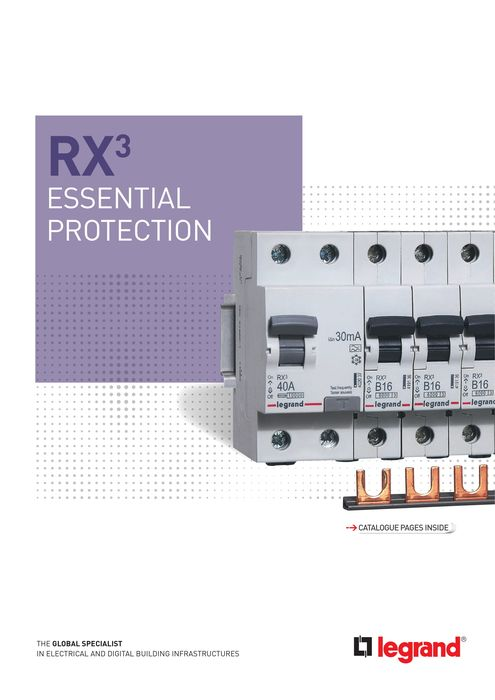 RX³ brochure: essential protection: prong and fork-type supply busbar MCBs and RCCBs