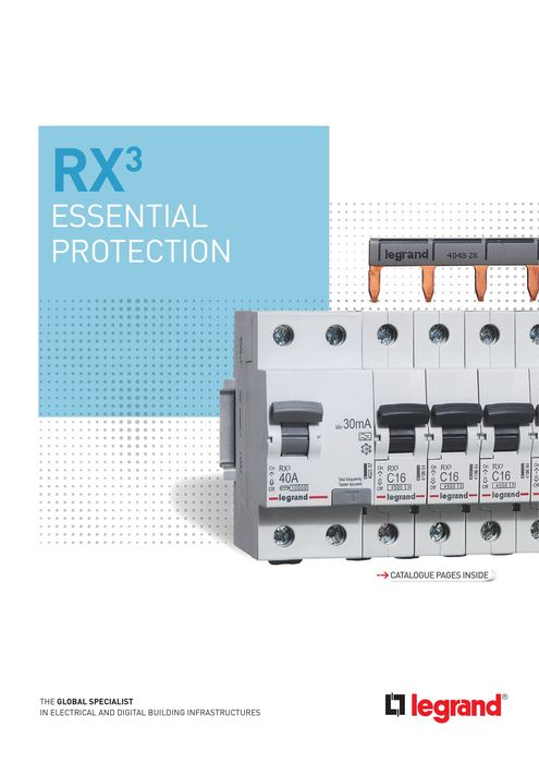 RX³ brochure: essential protection: prong-type supply busbar MCBs and RCCBs