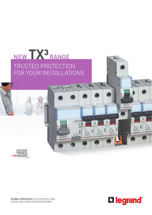 TX³ brochure: protection you can rely on: prong and fork-type supply busbar MCBs and RCCBs
