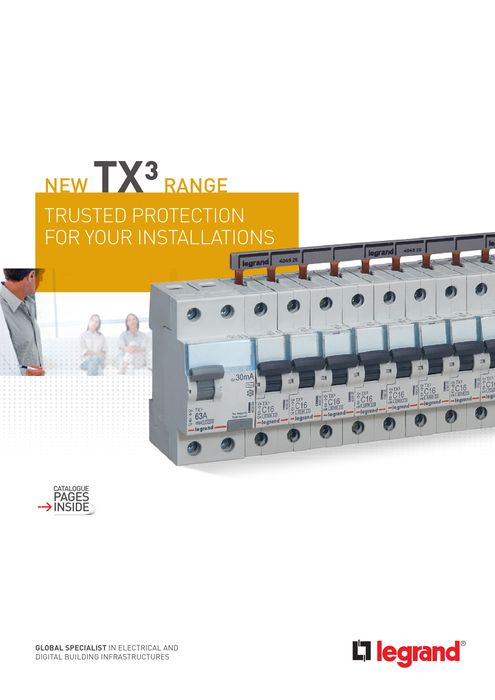 TX³ brochure: protection you can rely on: prong-type supply busbar MCBs and RCCBs